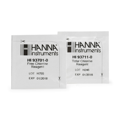 HI38017-200 Free and Total Chlorine (Low and Medium Range) Test Kit Replacement Reagents (200 tests)