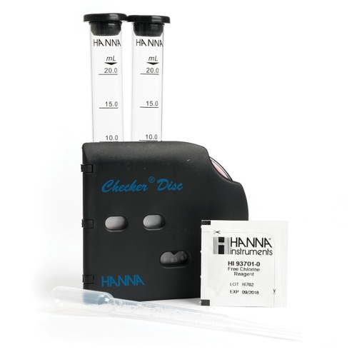 HI38018 Free Chlorine Low and Medium Range Test Kit with Checker Disc
