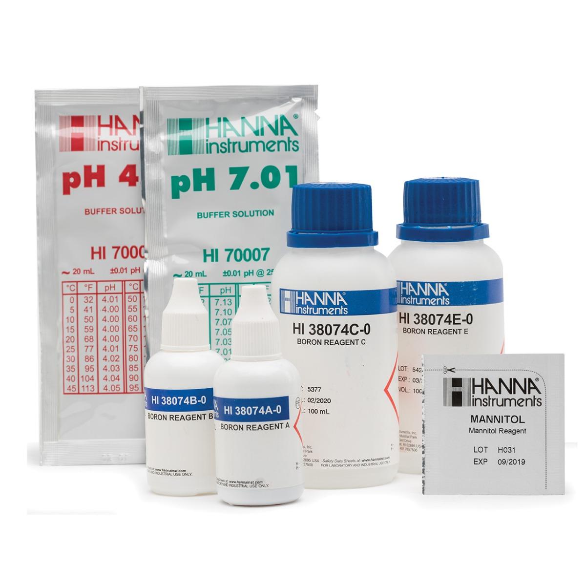 HI38074 Boron Chemical Test Kit for Irrigation Water