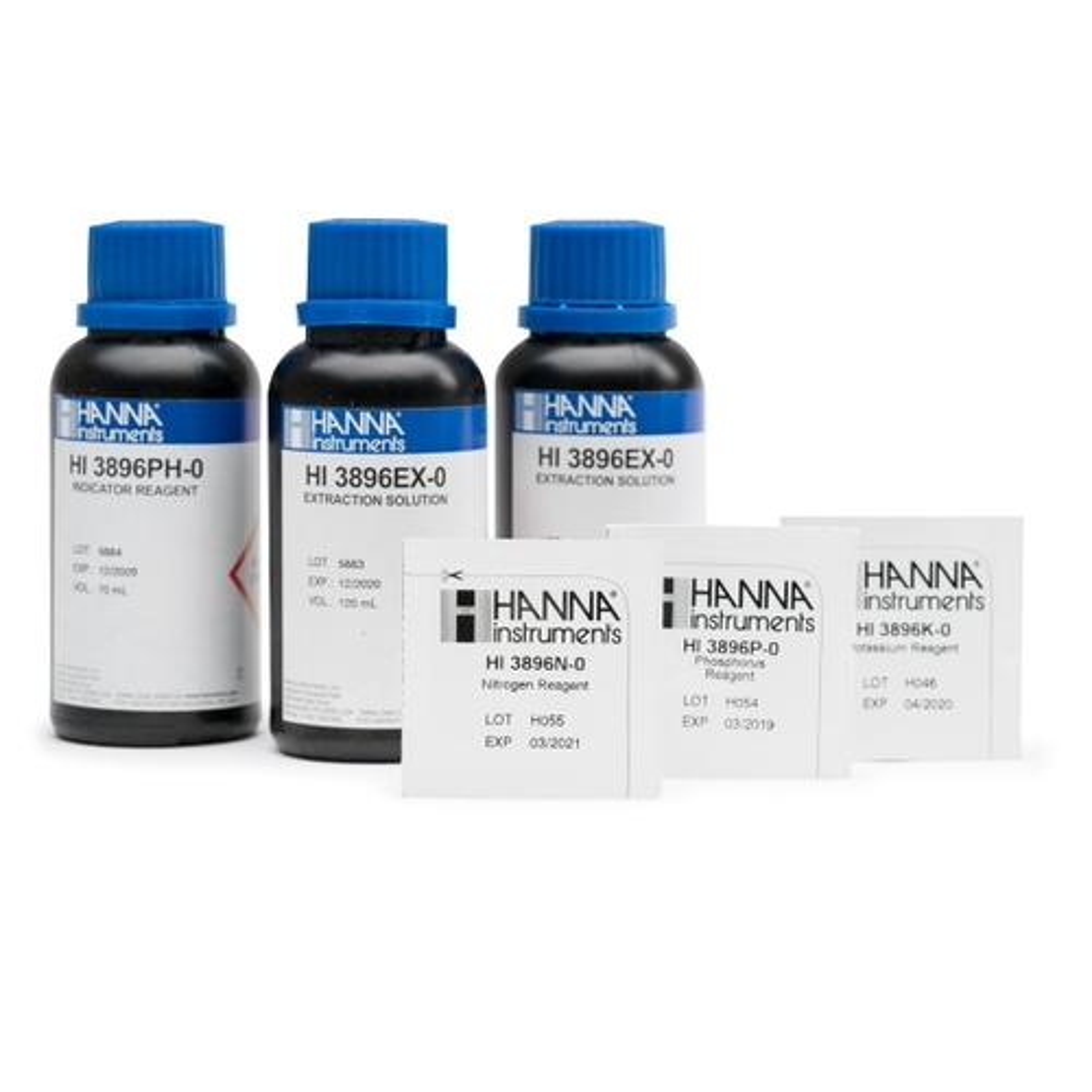 NPK Soil Chemical Test Kit Replacement Reagents (25 tests each) - HI3896-025