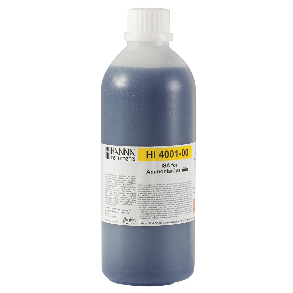 HI4001-00 Alkaline Ionic Strength Adjuster (ISA) for Ammonia and Cyanide ISEs (500 mL)