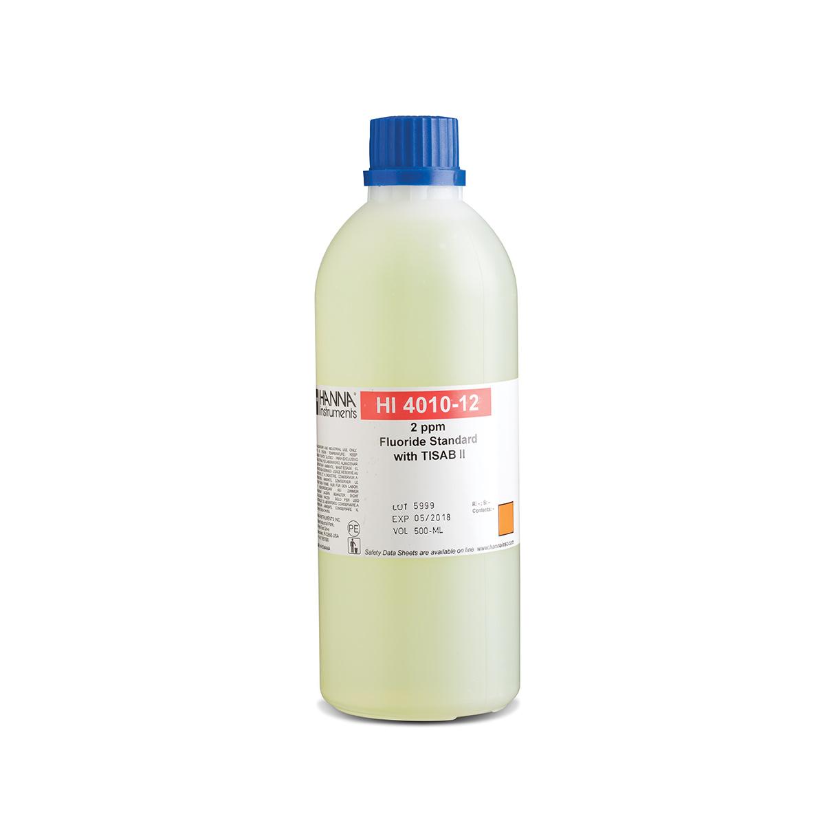 HI4010-12 Fluoride Standard 2 mg/L (ppm) with TISAB II