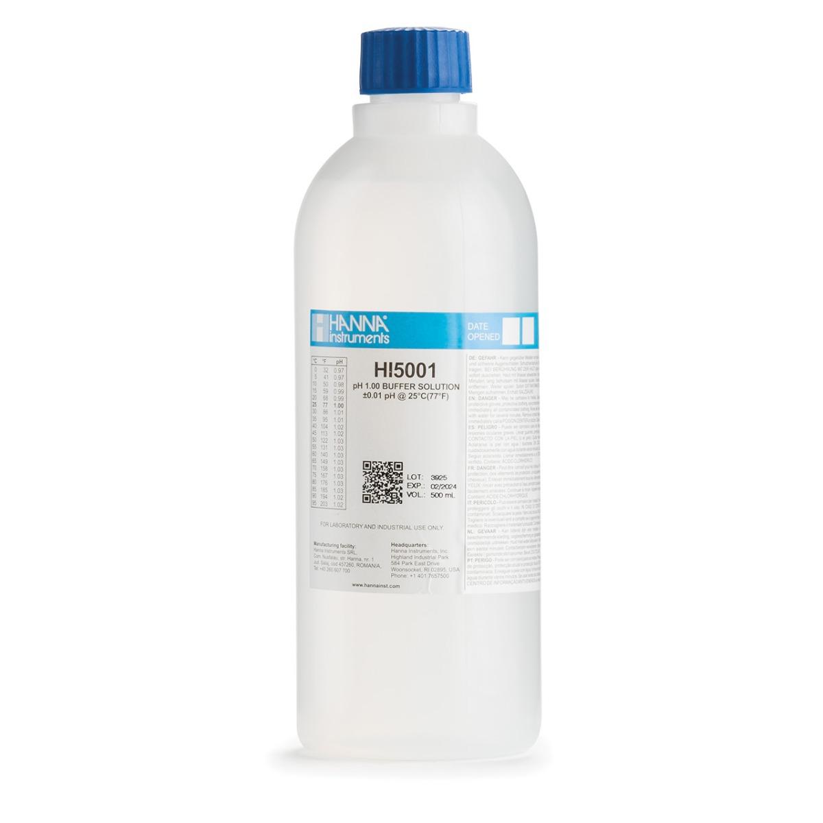HI5001 pH 1.00 Technical Calibration Buffer (500 mL)
