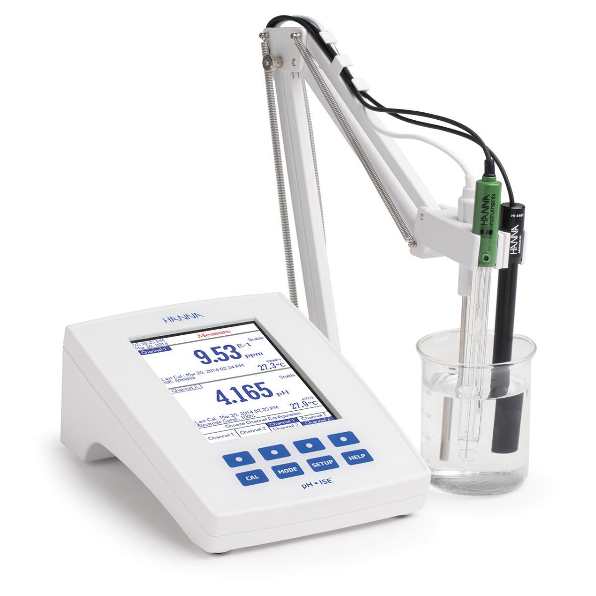 HI5222 dual channel pH/ISE benchtop meter