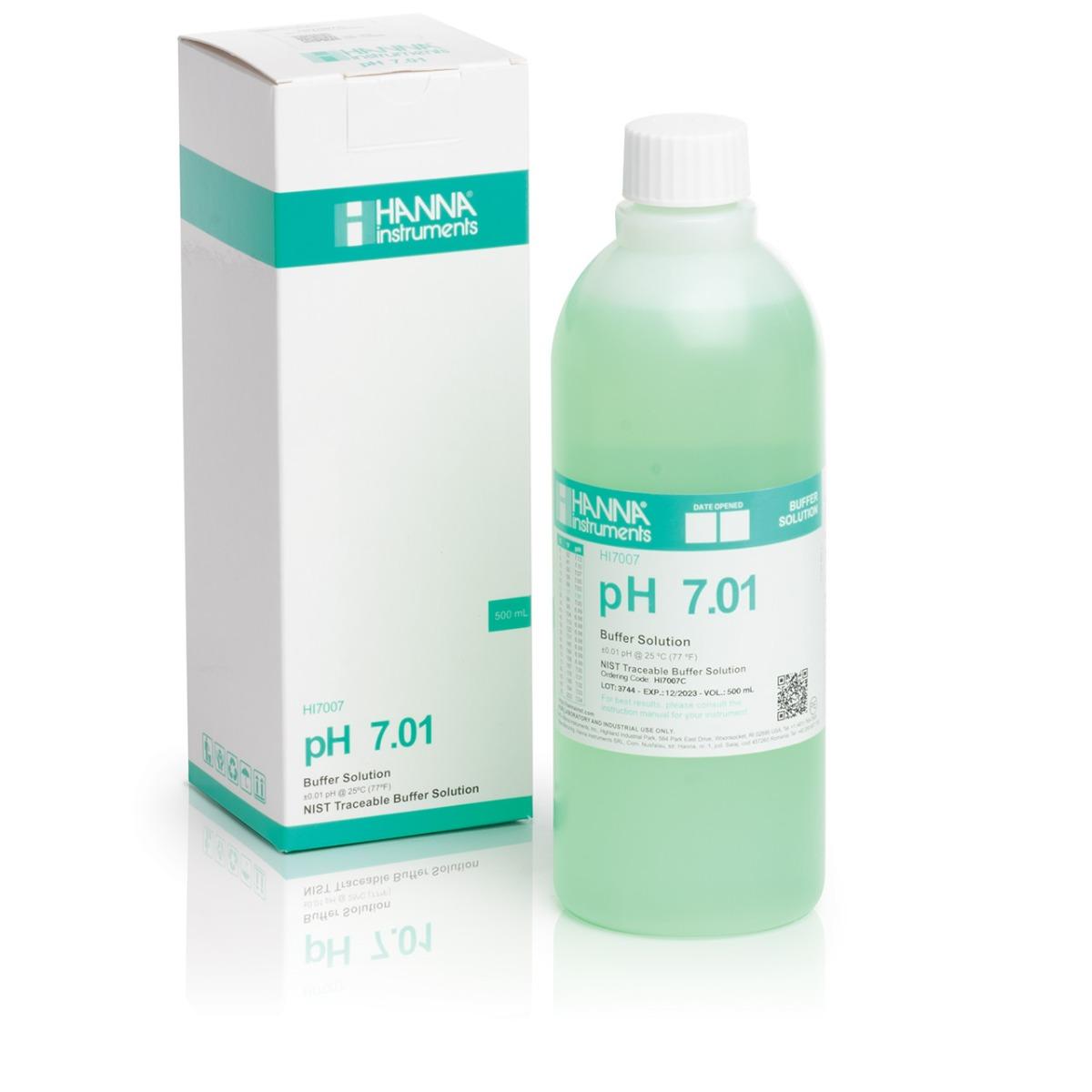 HI7007C pH 7.01 Calibration Solution (500 mL)