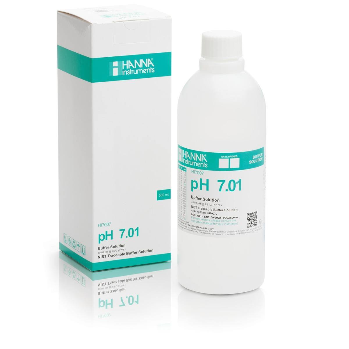 HI7007L pH 7.01 Calibration Solution (500 mL)