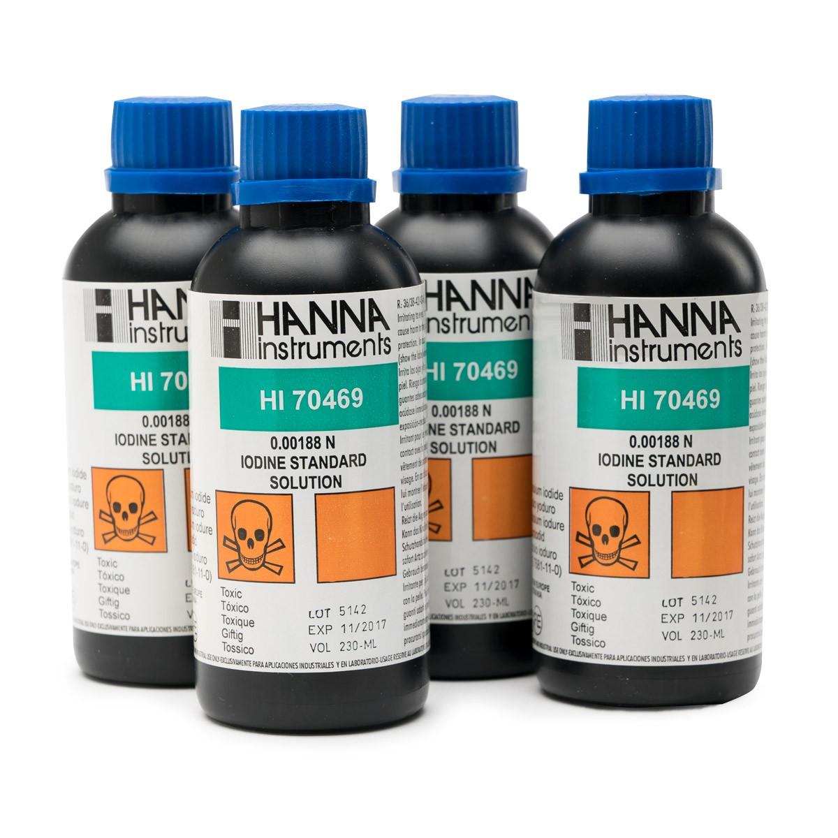 Iodine Standard Solution (0.00188 N), 4 x 250 mL - HI70469