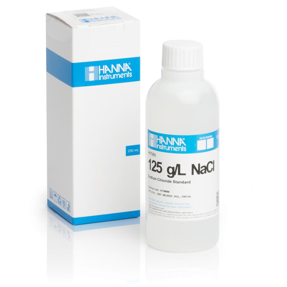 HI7089M 125 g/L NaCl Standard Solution (230 mL Bottle)