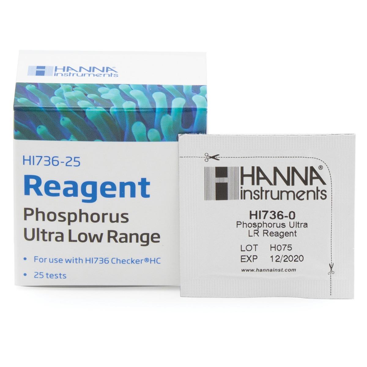 HI736-25 Phosphorus Ultra Low Range Checker® HC Reagents (25 tests)