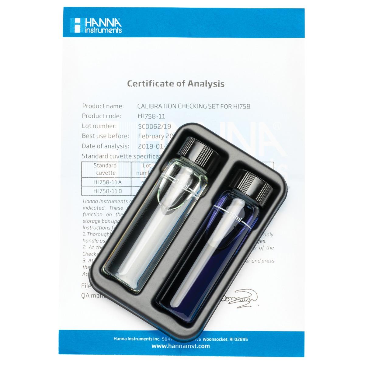 HI758-11 Marine Calcium Checker Calibration Set