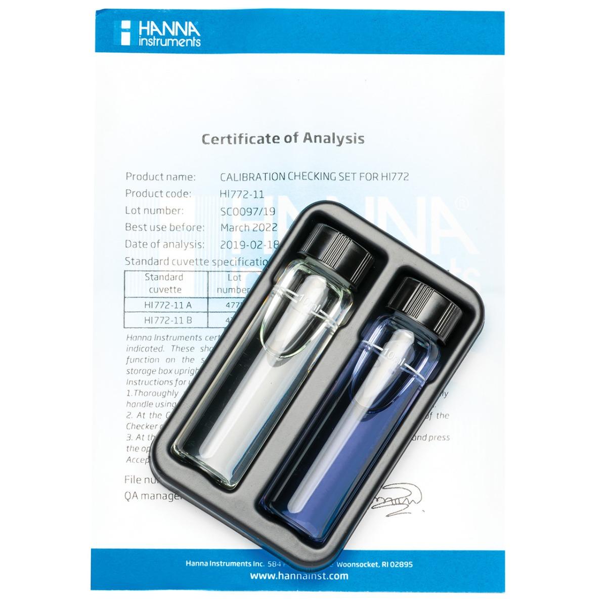 HI772-11 Marine Alkalinity (dKH) Checker HC® Calibration Set