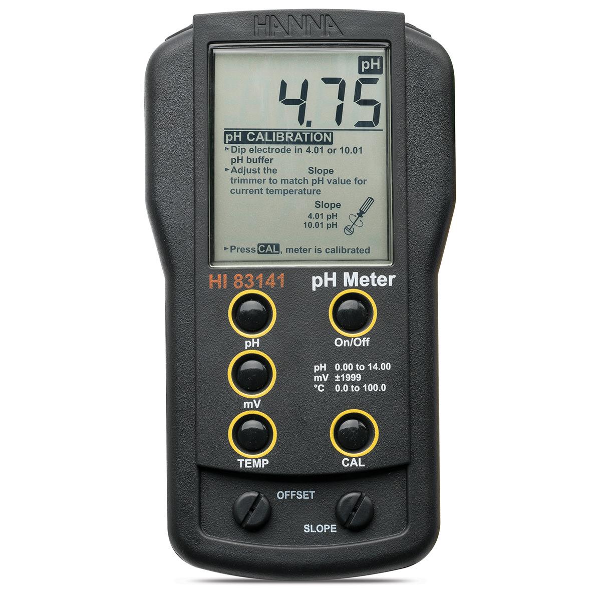 HI83141 portable pH/mV meter