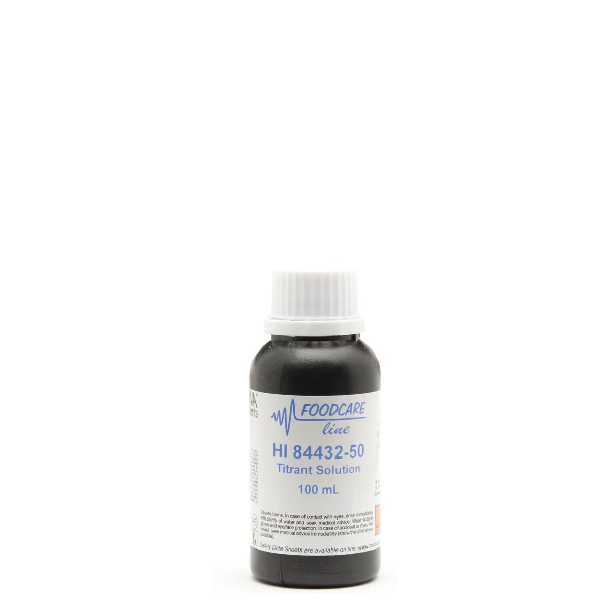 Titrant for Titratable Acidity in Fruit Juice Mini Titrator - HI84432-50