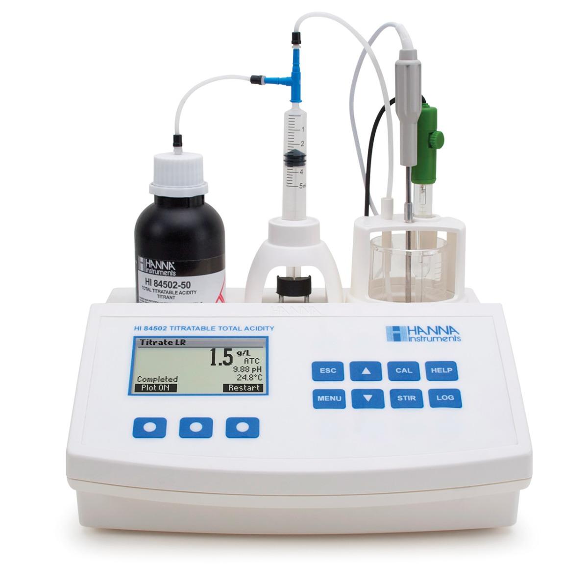 HI84502 Total Acidity Mini Titrator for Wine Analysis