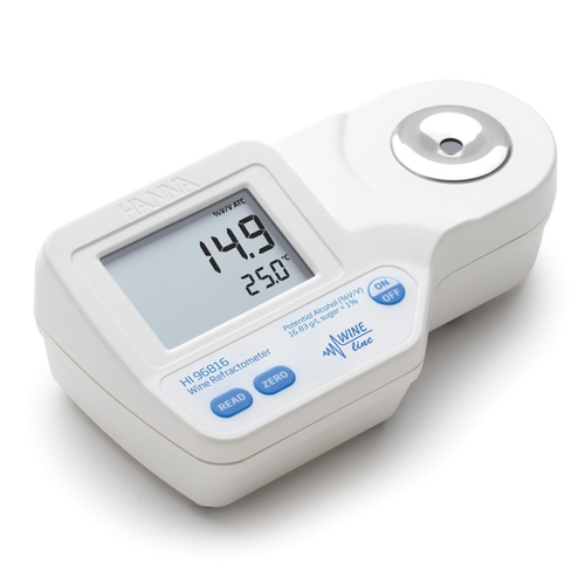 HI96816 Digital Refractometer for Potential Alcohol Analysis in Wine (high range)