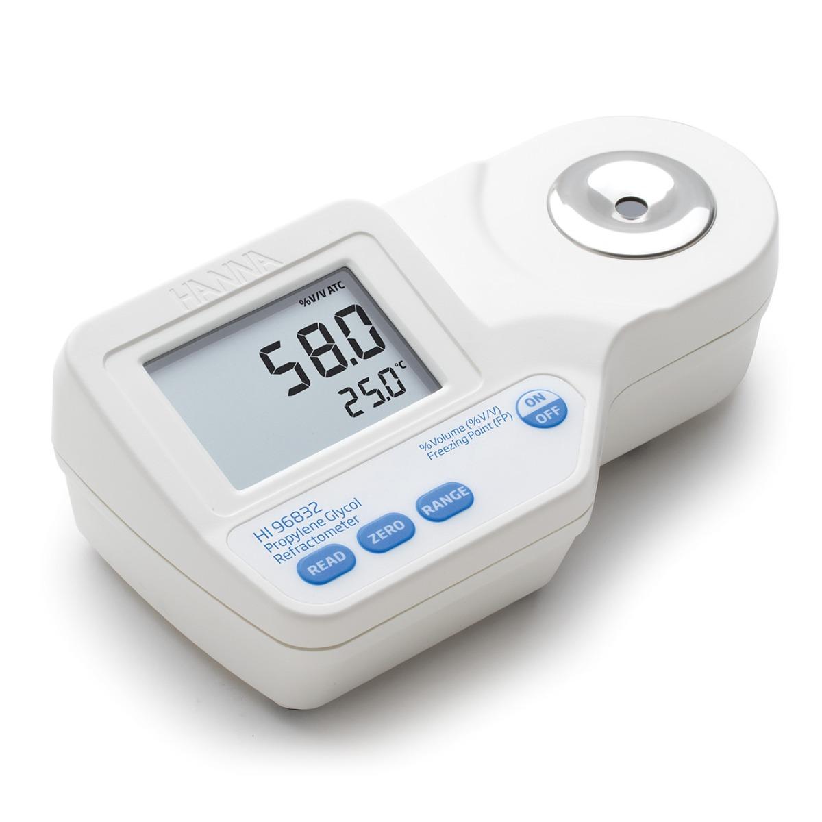 HI96832 Digital Refractometer for Propylene Glycol and Freezing Point Analysis