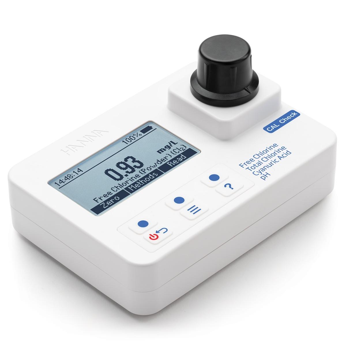 HI97725 Chlorine, Cyanuric Acid, and pH Portable Photometer
