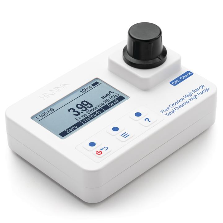 Free & Total Chlorine High Range Portable Photometer – HI97734