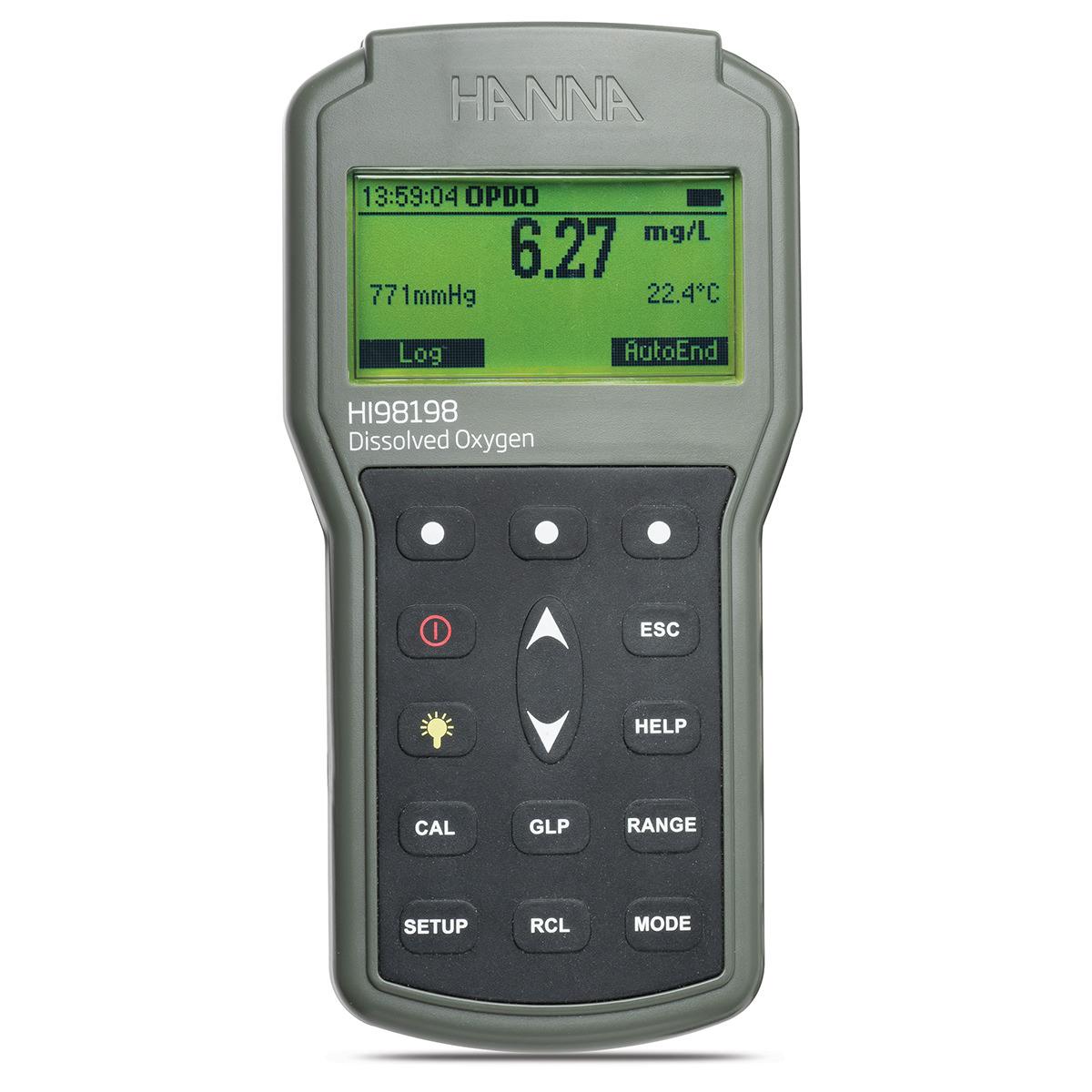 HI98198 portable optical dissolved oxygen meter