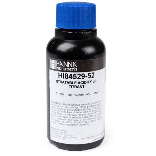 HI84529-55 Acidity in Dairy Products Pump Calibration Standard (120 mL)