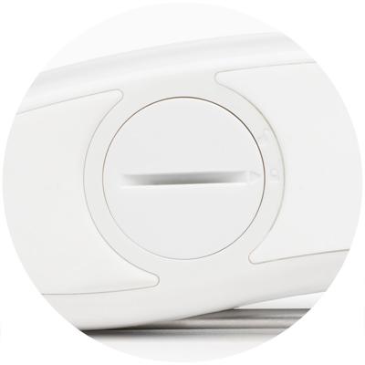 Ergonomic design with rubberized grip
