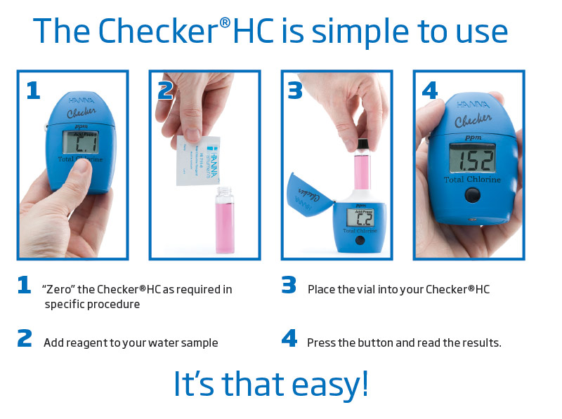 How to use Hanna Checker Handheld Colorimeter